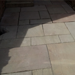 new patio slabs installed
